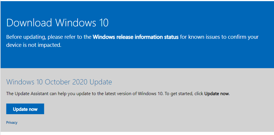 Download & install Windows 10 without waiting