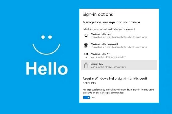 Windows Hello - More secure authentication with face or fingerprints