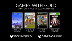 Microsoft Unveils the Games with Gold Titles for July 2021