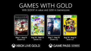 Microsoft Announces Games with Gold for August