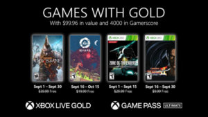 Microsoft Reveals the Games for Gold for September