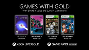 Microsoft Reveals Games with Gold for October